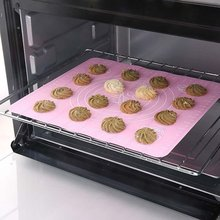 Safe and reusable toaster 300*400mm silicone baking mat with dropshipping