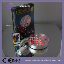 "RGB Battery Operated 6""Led centerpiece uplighter Light Base For Decorative Artificial Flower Centerpiece"