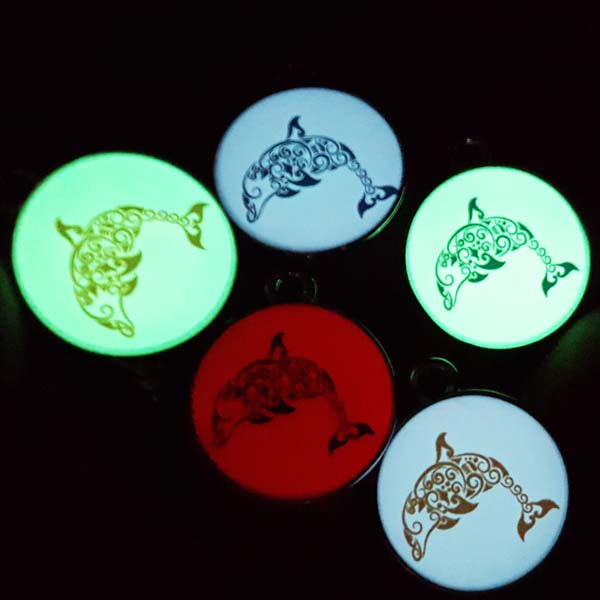 Fashion Printed Fashion Digital Jewellery Bear UV Glow Dolphin Pendant for Necklace Accessories