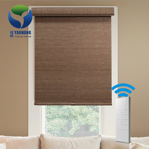 Dooya Automatic Motorized Remote Office Window Woven Roller Blinds