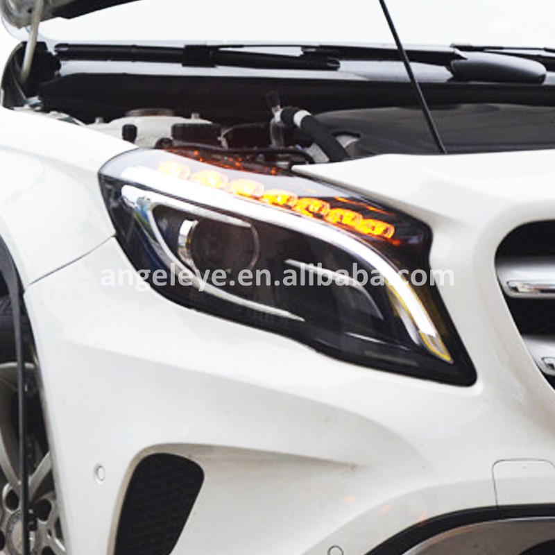 2015 Year For MercedesBenz GLA200 LED Head lam Front Light for GLA200 Black housing SY