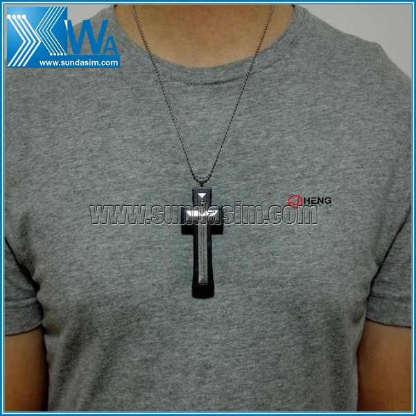 640x480 Cross Necklace Pinhole Camera Hidden Video DV Recorder 30FPS 4GB G60