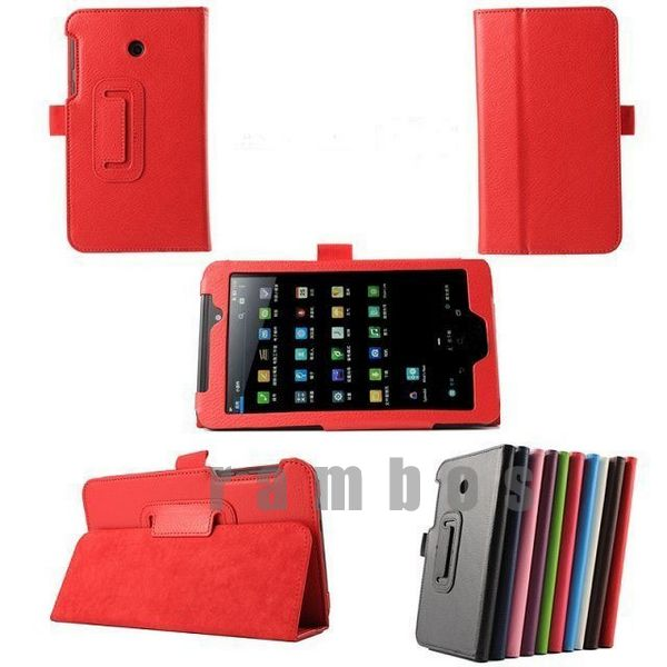 Folding Stand Leather Tablet PC Cover Folio Flip Case for Asus Fonepad 7 FE 170