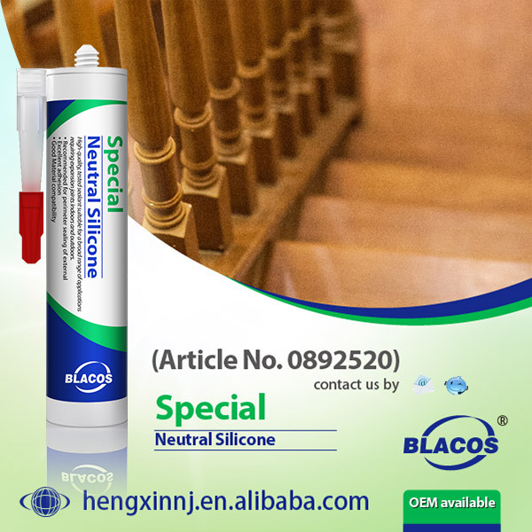Broad Adhesion Non Corrosion And UV Resistance 100% Neutral Weather-Proof Silicone Sealant