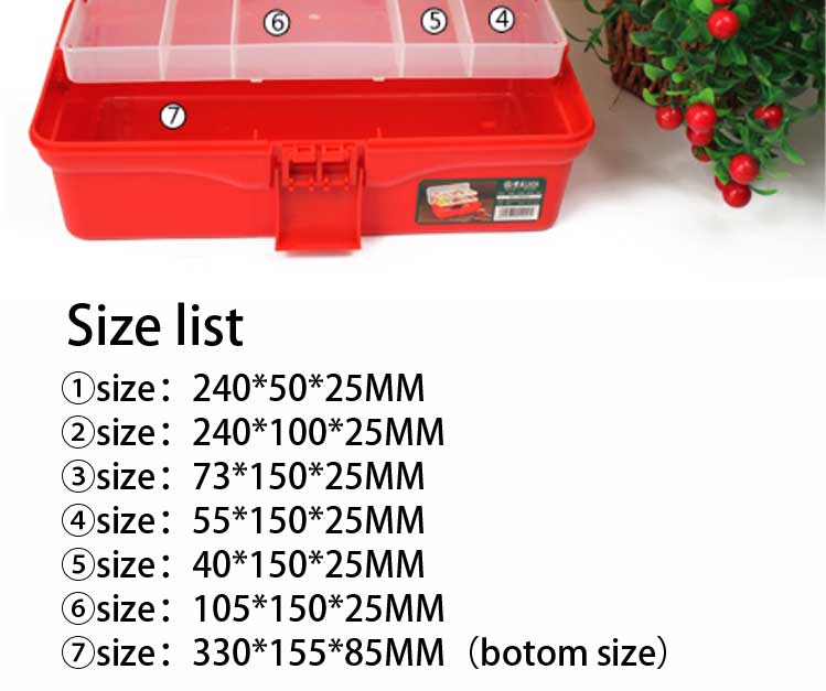 LAOA 14.5 Inch Blue color Multifunction transparent three layer tool case,tool box cabinet ,Storage kit Plastic Tool Box