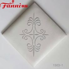 furniture decoration embroidery artifical leather for upholstery