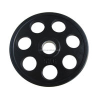 7 Holes Black Rubber Coated Weight