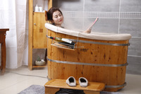 SPA Wooden Bathtub with Stainless Steel Adjustable Hoop(NO.1100)