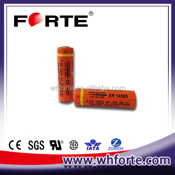3.6V AA size ER14505 Saft LS14500 replacement battery