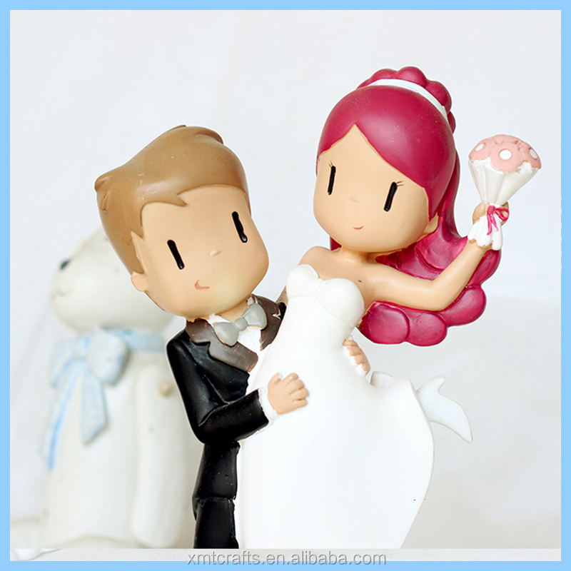 2017 best romantic handmade couple figurine wedding cake toppers marriage gift lover souvenir