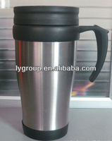 wholesale 450ml stainless steel coffee mug/stainless steel thermos cup/promotion auto mug