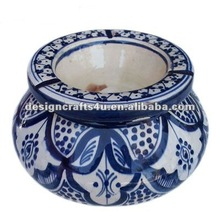 decorative ceramic flower pot ashtray