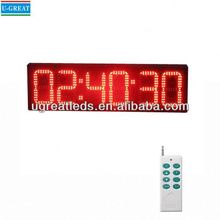 Top selling products wall mounted RF control outdoor 6digits red gym digital led countdown timer