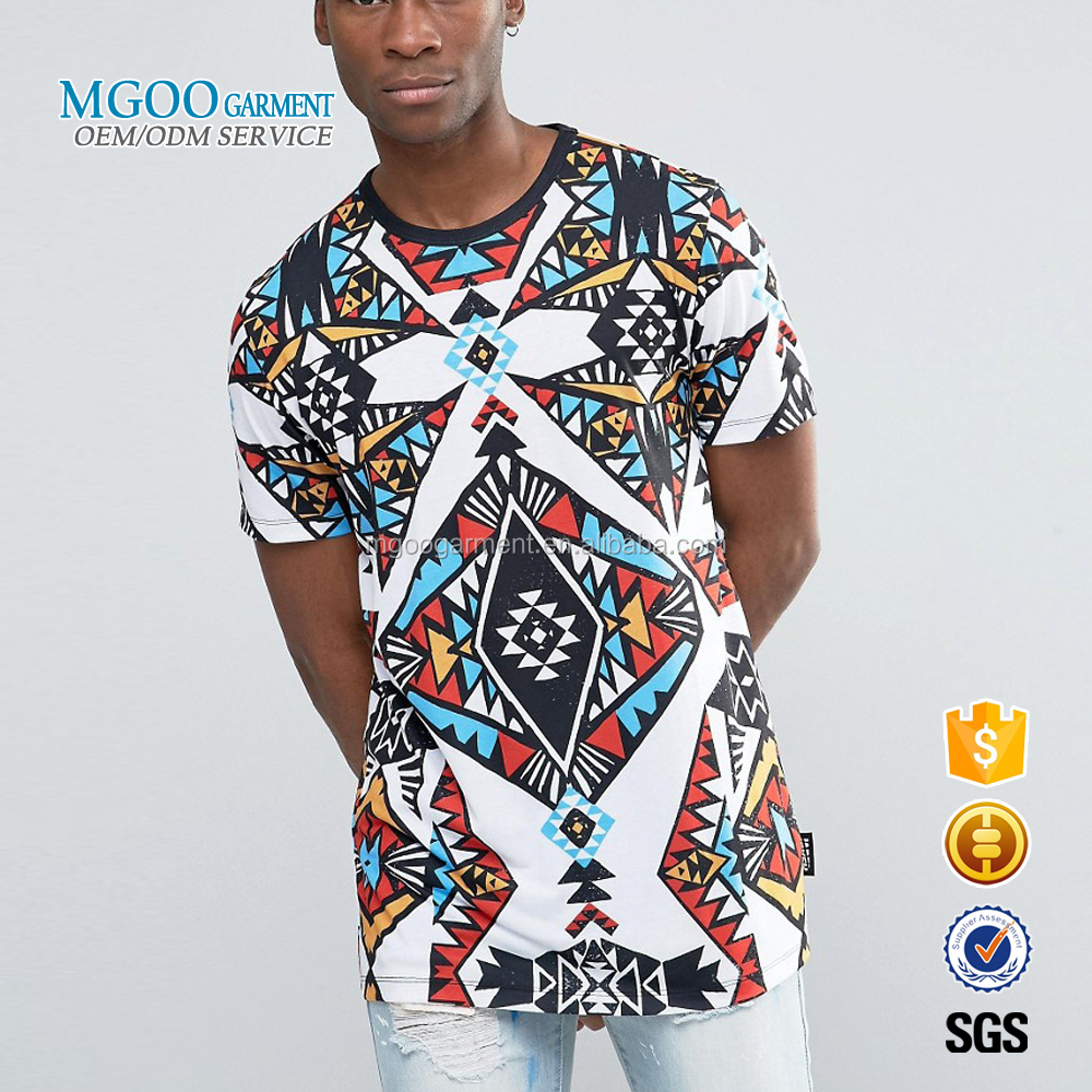MGOO Special Designs Custom Made Clothing Manufacturers All Over Print T-shirts Crew Neck Fashion Floral Print