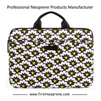 13.5 Personalised Flower Neoprene Laptop Sleeve