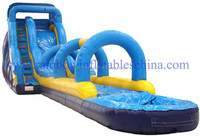 59.1*11.8*19.7ft Water Slides For Rent / Inflatable Waterslides For Sale