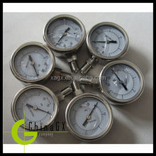 miniature 316ss silicone oil filled medical oxygen pressure gauge