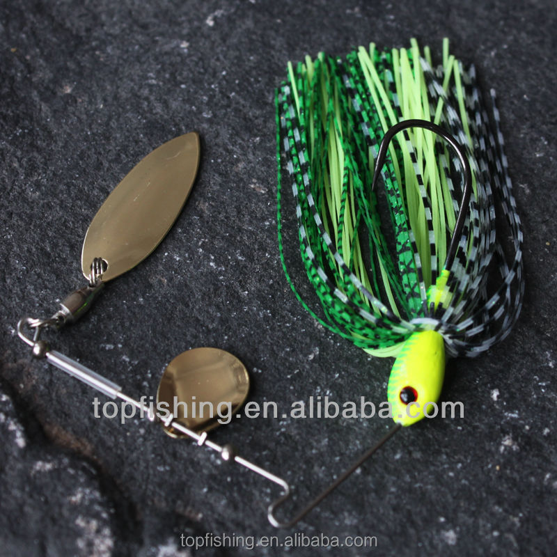 Wholesale spinner bait lure <strong>Q13</strong>-G02-10 metal fishing lure for China