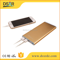 Portable Ultra thin power bank 8000mah LED Light Brushed Aluminum Dual USB Backup Battery for Phone and Tablet