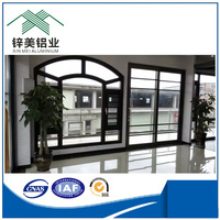 2016 Cheap price aluminum window parts and door design with thermal break