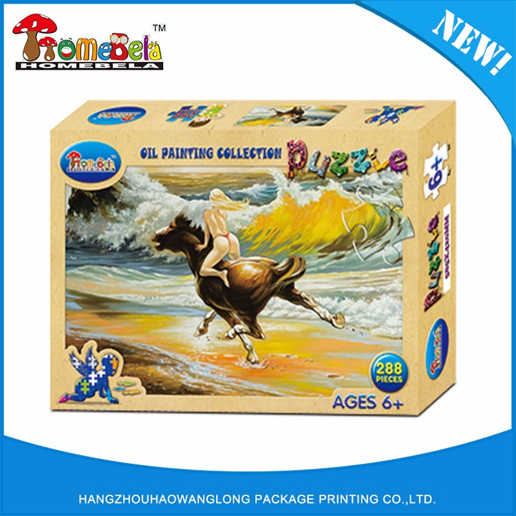 paper jigsaw puzzles toy sexy girls oil painting sexy horse animal toys