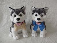 Plush toy husky/custom standing lifelike husky /plush toy dog husky