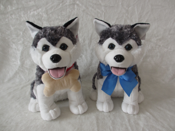 Plush toy husky/custom standing lifelike husky /plush toy dog husky