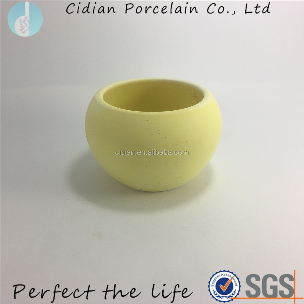 Round Ceramic Plant Pots with Drainage Hole