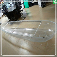 PC leisure boat clear plastic traveling kayak polycarbonate canoe