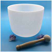 China Supplier All Note Frosted Chakra Crystal Singing Bowl for Sound Massage With Hand Made