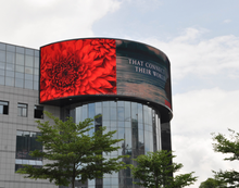 full color video 1080p full hd p10 led screen outdoor display for commercial using