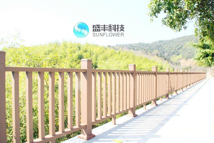 wpc handrail/ wpc railing/outdoor wood handrail