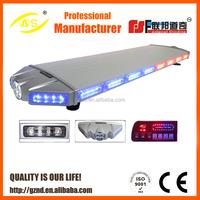 12V Red blue led police light bar 120cm long 36 flash patterns emergency traffic strobe light