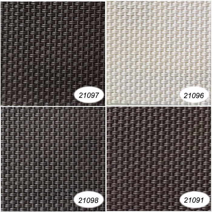 2x1 Black Grey color PVC poyester mesh fabric for leisure chair