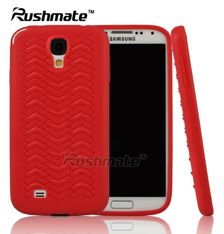 New Arrival Red Covers For Samsung I9500 Galaxy S4 Tire Design TPU Sublimation Case