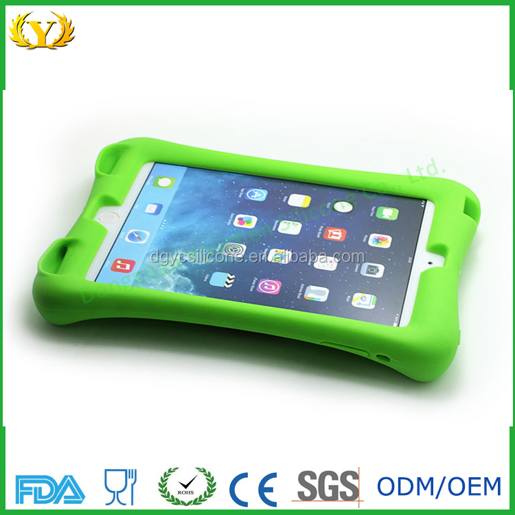Custom silicone phone case for ipad/silicone cover for ipad