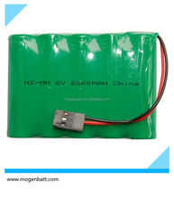 18650 Ni-Cd Aa Battery Pack 6 V AA 2200mAh NiMH Battery Pack 6V Nimh Rechargeable Battery Pack