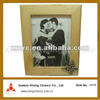 Classic Molding for Couples Natural Wooden Frame