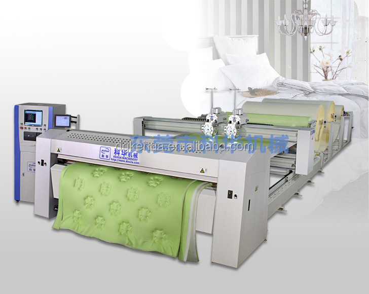 computerized DZHF-2G full auto dual needle, double heads quilting machine