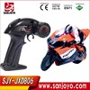 1:16 Full Scale 4CH 2.4G RC Racing Motorbike model Electric Toys Radio Control Motorbike JXD-806