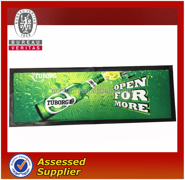 neoprene bar mats / Hot Sale Non-slip Custom Rubber Bar Mat