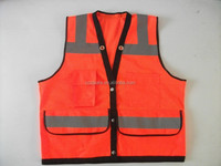 Mesh Safety Reflective Vest With Pockets