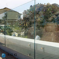 flat & bent tempered glass balustrade/ railing/ fence