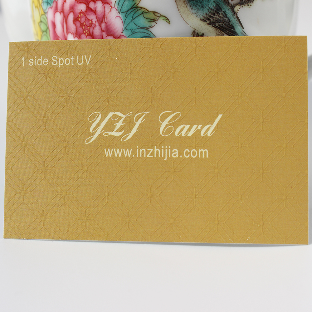 Light brown cotton paper Business Cards from YZJ Prints