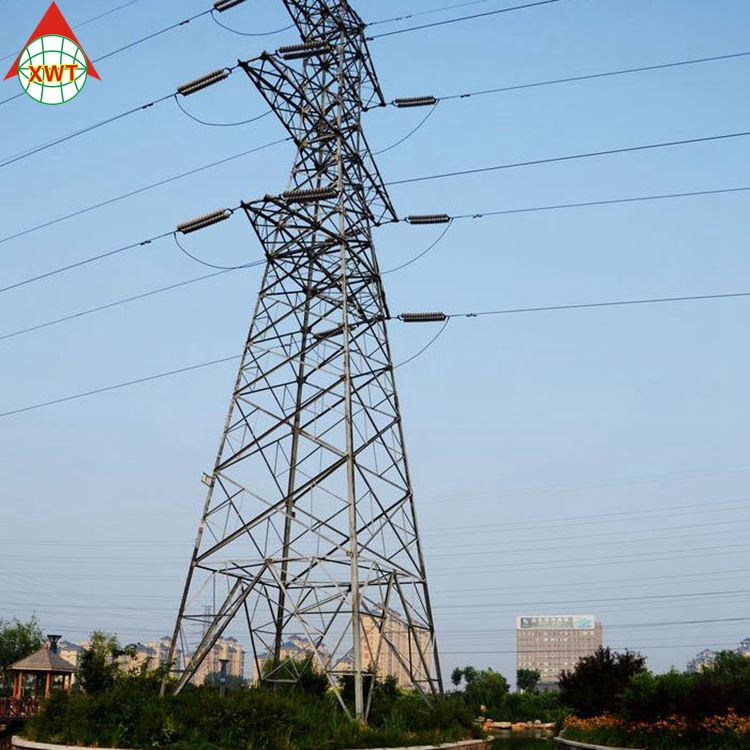 Special design transmission line 4 legged high voltage electric power steel tower