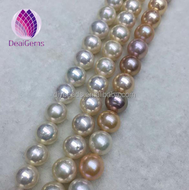 11--12mm round edison pearls large size freshwater pearls for making pearl necklace