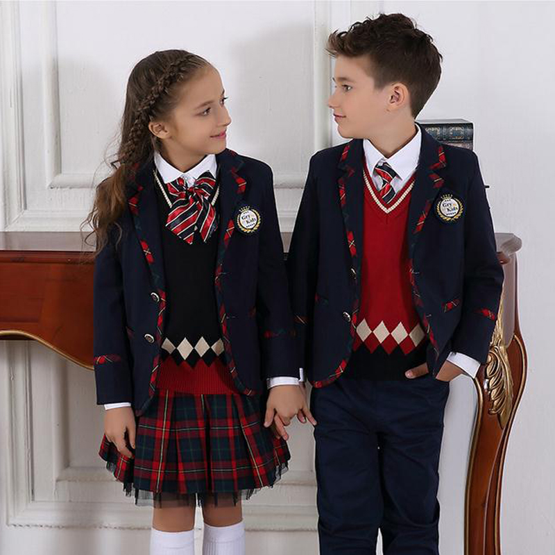 Wholesale factory price 100% polyester school uniform blazer