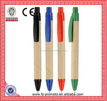 2014 new design nature color fashion popular wooden ball pen for student or office