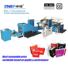 ZD-F450Q Machine make kraft paper bag with inline handle attach