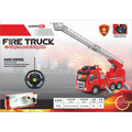 Fire Engine Truck Kids Toy Kids Toy with Extending Ladder & Lights & Siren Sounds Vocal Phrases Bump & Go Action